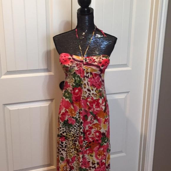 85b3826164 Tropical Animal Print maxi Dress size S NWT